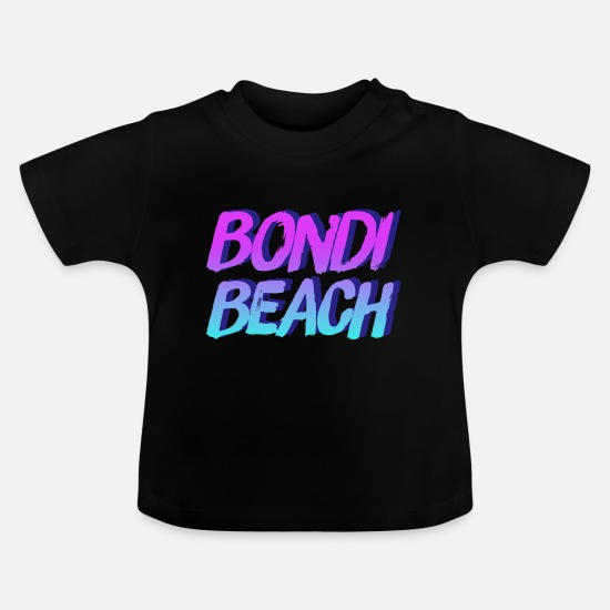 Love Baby Clothes - Bondi Beach - Baby T-Shirt black