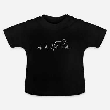 Dog Bernese mountain dog - heartbeat - Baby T-Shirt