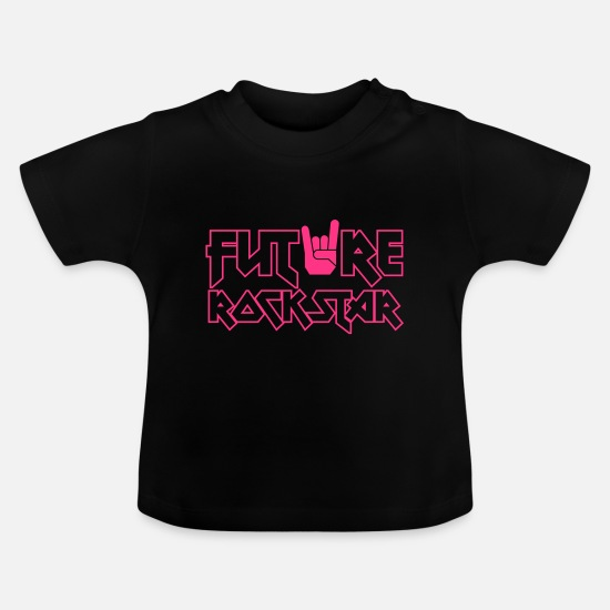 Kind Babykleidung - future rock star - Baby T-Shirt Schwarz