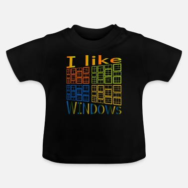 Windows Ik hou van Windows - Baby T-shirt
