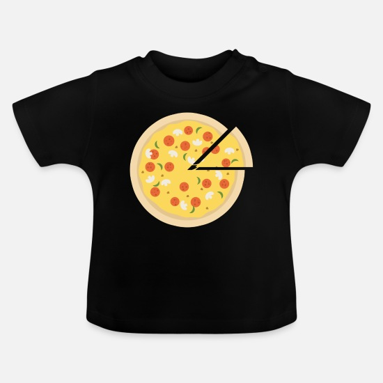 Italian Baby Clothes - pizza pizzeria food food restaurant24 - Baby T-Shirt black