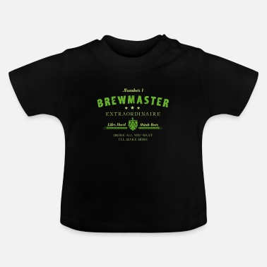 Parrillero Cervecero # 1 Brewmaster Craft Beer Hops Malt Regalo - Camiseta bebé