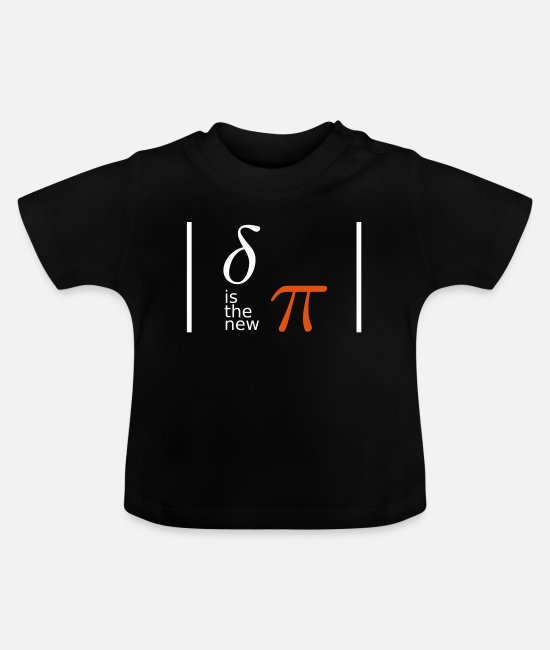 Chaos Baby T-Shirts - delta is the new pi - chaos theory - geekcontest - Baby T-Shirt black