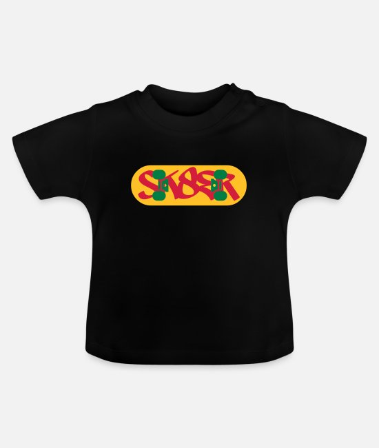 Freestyle Baby Clothes - sk8er - Baby T-Shirt black