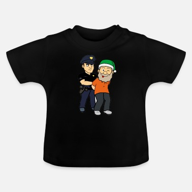 Edvent Arrested Santa Thief Policeman - Baby T-shirt