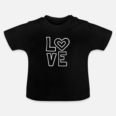 I Love Love love valentines day romantic heart heart kiss - Baby T-Shirt