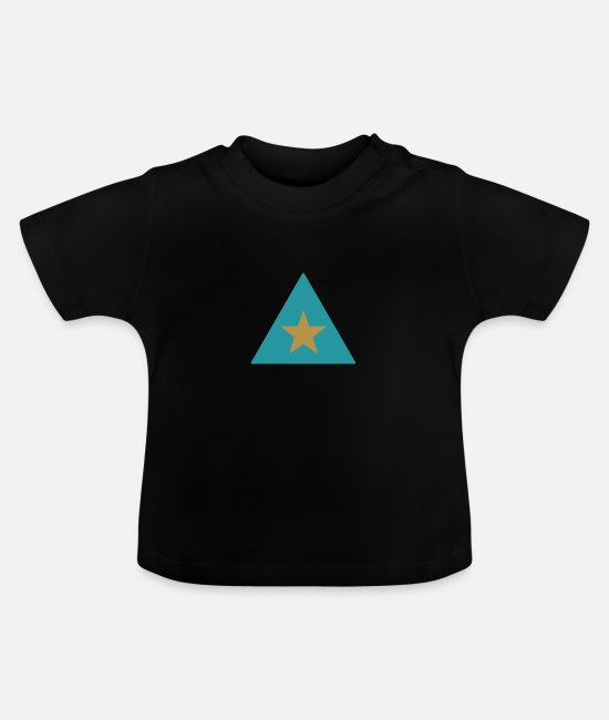 Star Baby T-Shirts - Triangle star - Baby T-Shirt black