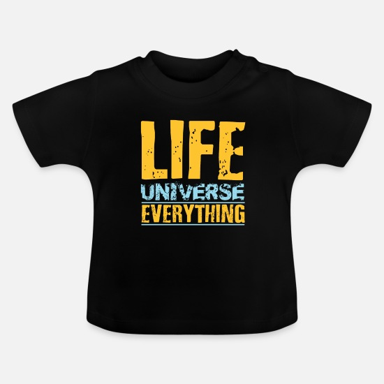 Birthday Baby Clothes - Universe T-Shirt! Great gift idea for nerds! - Baby T-Shirt black