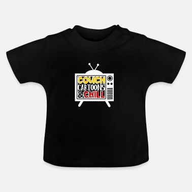 Animated Film Sofa, animated films and rest, children - Baby T-Shirt