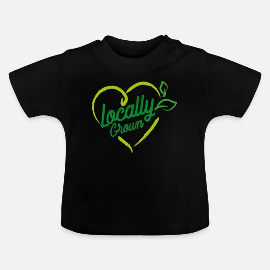 Market Baby Clothes - Locally Grown - Baby T-Shirt black