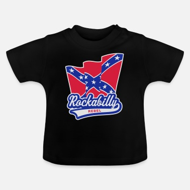 Rockabilly Rockabilly Rebel Flag - T-shirt baby