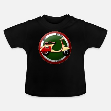 Becane Scooter  1957 drapeau Basque 2 - T-shirt Bébé