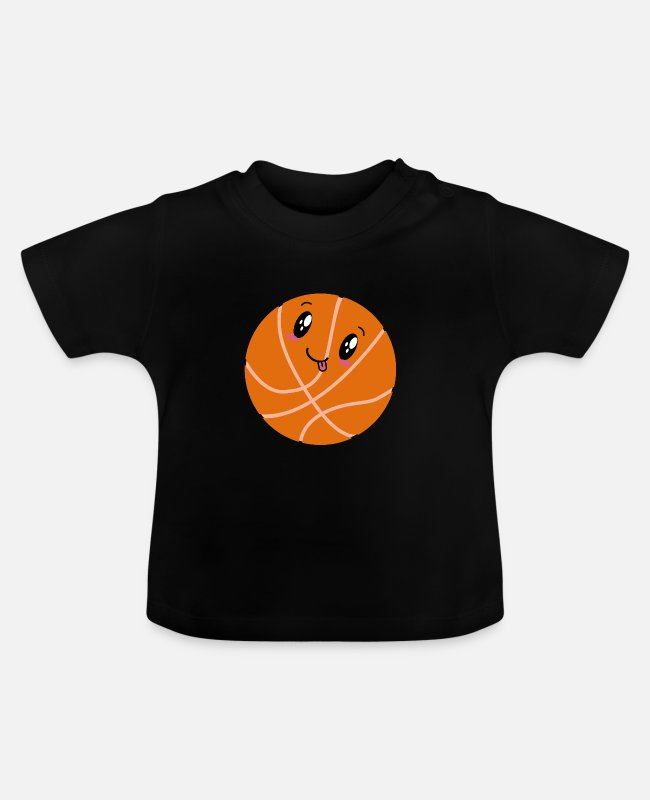 Super Schattig Baby shirts - kawaii basketbal - Baby T-shirt zwart