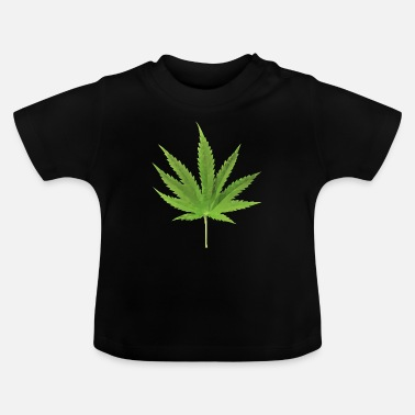 Hemp Hemp leaf low polygon effect - Baby T-Shirt