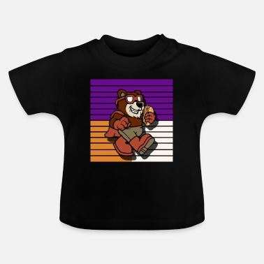 Tjock Super Bear Hot Dog Comic - T-shirt baby