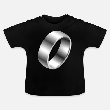 Silber Silber Ring - Baby T-Shirt