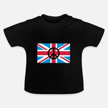 Union Jack Peace Sign Union Jack, Union Jack - T-shirt Bébé