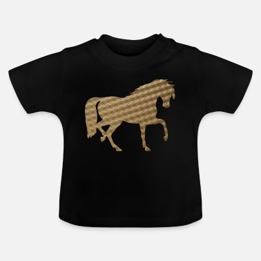 Horse in Brown Squares - Baby T-Shirt