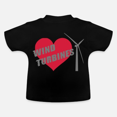wind turbine grey - Baby T-Shirt