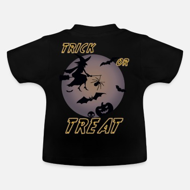 Bat Wings Witch trick or treat Halloween - Baby T-Shirt