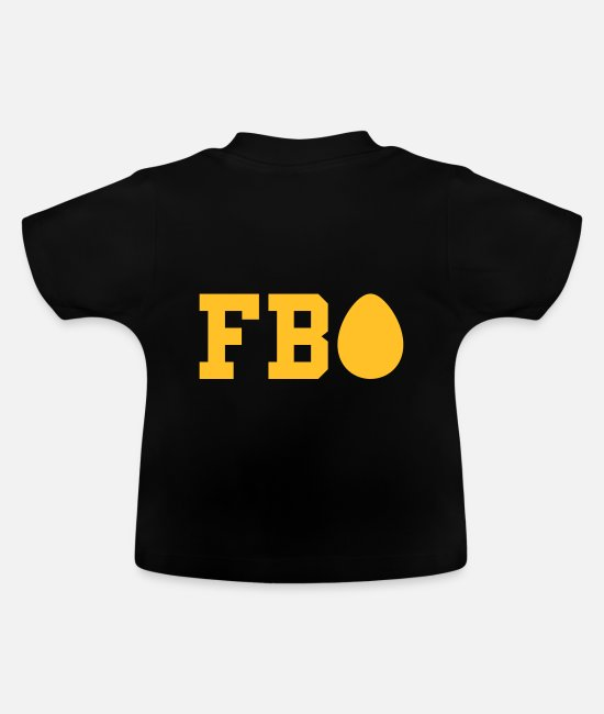 Easter Baby Clothes - ★ design colors changeable ★ FBI (egg as i) - Baby T-Shirt black