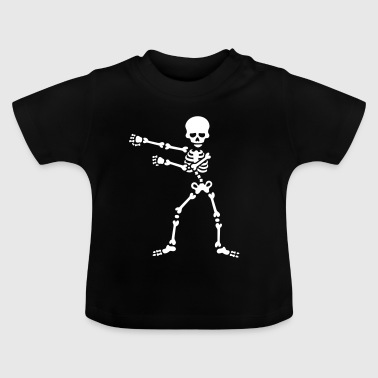 The floss dance flossing backpack boy kid skeleton - Baby-T-skjorte