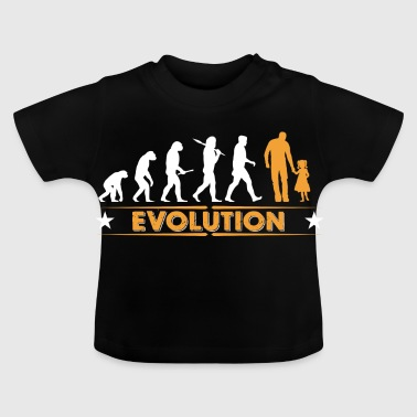 Père et fille - evolution - orange/blanc - T-shirt Bébé