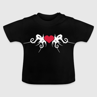 Fragile Heart Covered In Sharp Thorns - Baby T-Shirt