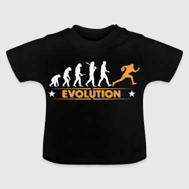 American Football - Evolution orange/weiss - T-shirt Bébé
