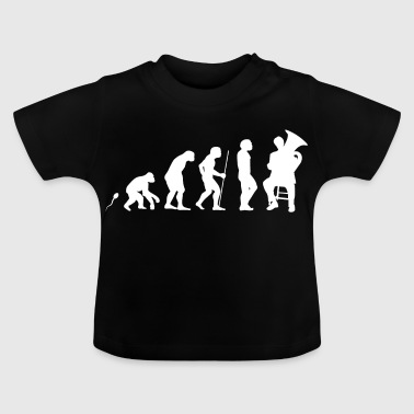 Tuba Spielen Evolution Fun Shirt - Baby T-Shirt