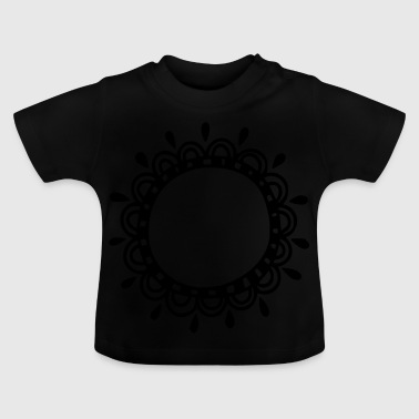 Kroon, kader, decoratie, uw tekst, sjabloon - Baby T-shirt