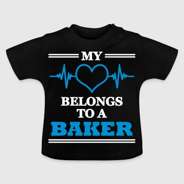 My heart belongs to a baker - Baby T-Shirt
