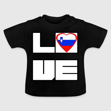 Love Land Roots Slowenien - Baby T-Shirt