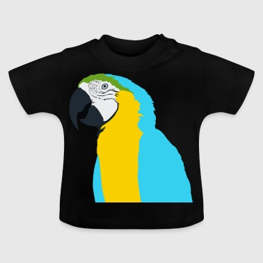 Parrot blue yellow green beak - Baby T-Shirt