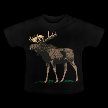 Moose Norway Finland Sweden Scandinavia - Baby T-Shirt