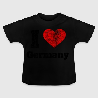 Tshirt I Love Germany Geschenkidee Shirt retro old - Baby T-Shirt