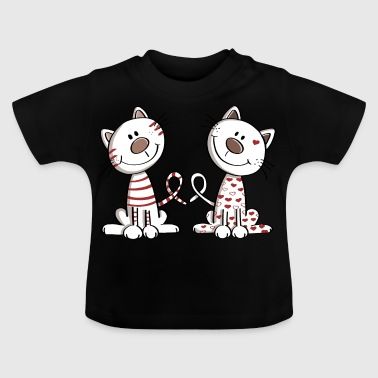 Two cute cats - cat - kitten - kitty - Baby T-Shirt