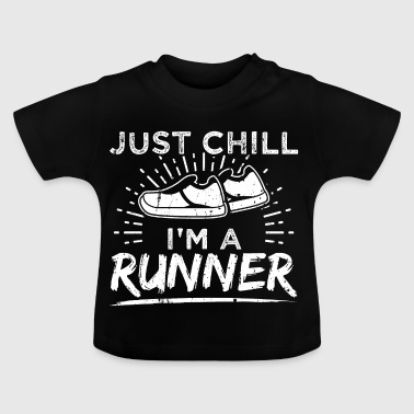 Grappig Lopend Runner shirt Chill - Baby T-shirt