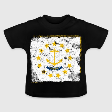 Rhode Island Vintage Flagge - Baby T-Shirt