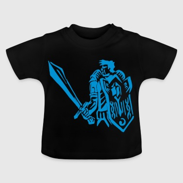 Human warrior knight paladin RPG tank fantasy - Baby T-Shirt
