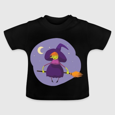 witch, broom, moon - Baby T-Shirt