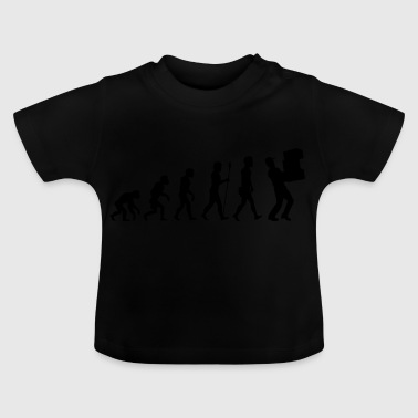 Evolution package delivery t-shirt postman gift - Baby T-Shirt