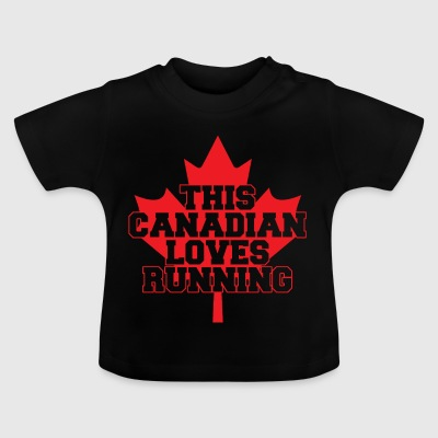 03 this canadian loves running copy - Baby T-Shirt