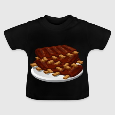 spare ribs meat pork food - Baby T-Shirt