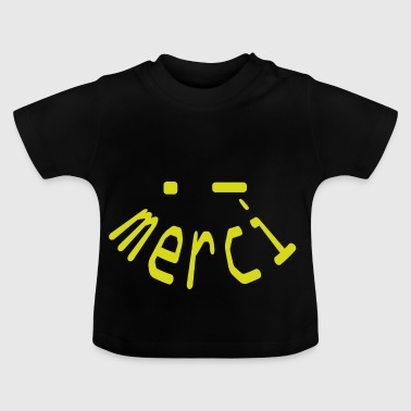 merci gul smiley - Baby T-shirt