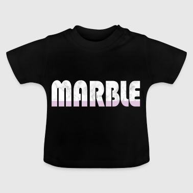 Marble Rosa woord Fashion modetrend idee - Baby T-shirt