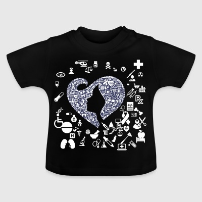 Nurse with heart - Baby T-Shirt