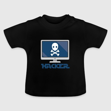 Hacker and computer. - Baby T-Shirt