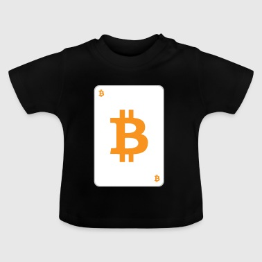 Bitcoin playing card - Baby T-Shirt