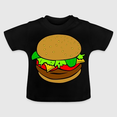 Burger Hamburger fast food idea regalo pasto - Maglietta per neonato
